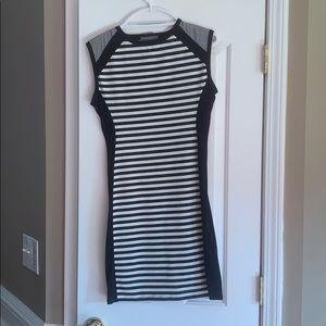 Striped stitch fix cotton dress
